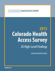 Report - Colorado Health Institute