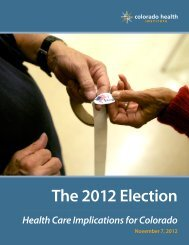 The 2012 Election - Colorado Health Institute