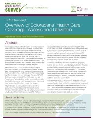 Overview of Coloradans' Health Care Coverage Access and Utilization