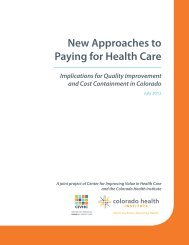 New Approaches to Paying for Health Care