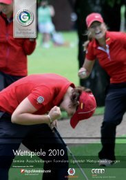 Wettspiele 2010 - Golf.de
