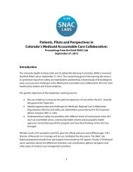 Colorado's Medicaid Accountable Care Collaborative