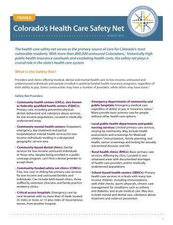 PRIMER - Colorado Health Institute