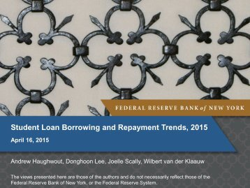 Student Loan Borrowing and Repayment Trends 2015