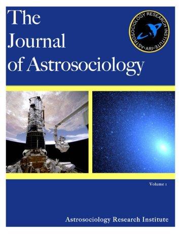 THE JOURNAL OF ASTROSOCIOLOGY VOLUME 1