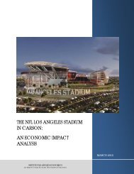 THE NFL LOS ANGELES STADIUM IN CARSON AN ECONOMIC IMPACT ANALYSIS