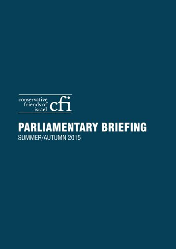 PARLIAMENTARY BRIEFING