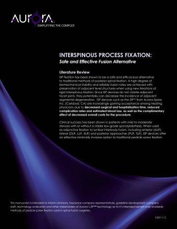INTERSPINOUS PROCESS FIXATION