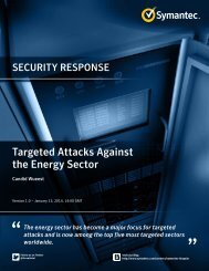 Targeted Attacks Against the Energy Sector