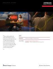 Hitachi Success Story with BTV - Hitachi Data Systems