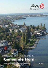 Mitteilungsblatt 03/2012 - in der Gemeinde Horn