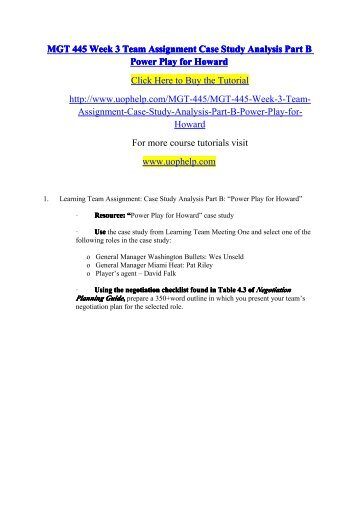 MGT 445 Week 3 Team Assignment Case Study Analysis Part B Power Play for Howard.pdf