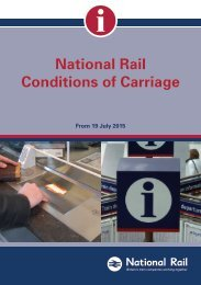 NATIONAL RAIL CONDITIONS OF CARRIAGE