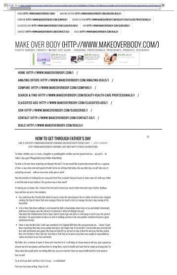 Make Over Body - How to get through Father's Day - Complete Plastic Surgery _ Cosmetic _ Beauty Guide.pdf