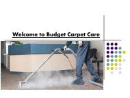 Welcome to Budget Carpet Care