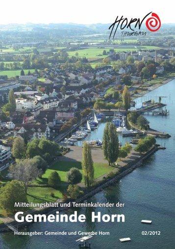 Mitteilungslbatt 02/2012 - in der Gemeinde Horn