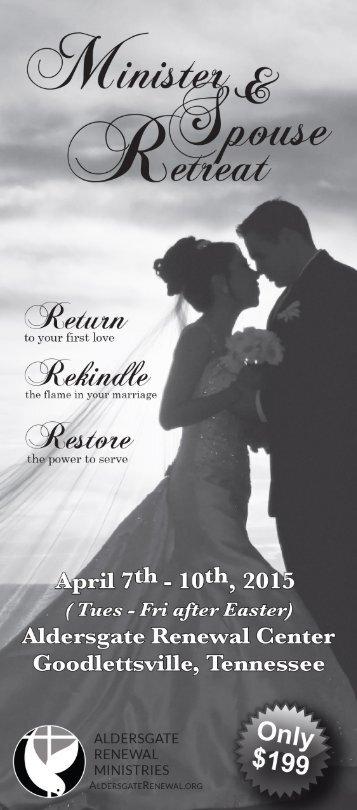 Minister & Spouse Retreat Brochure