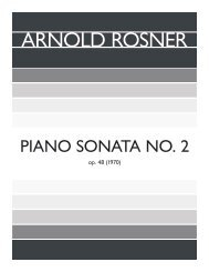 Rosner - Piano Sonata No. 2, op. 48