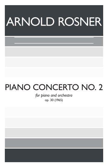 Rosner - Piano Concerto No. 2, op. 30