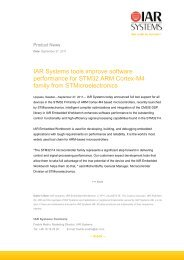 IAR Systems tools improve software performance for STM32 ARM ...