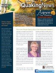 Aspen Tree Ministries Newsletter