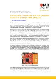 Constructing a bootloader with IAR Embedded ... - IAR Systems