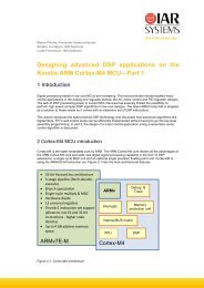 Designing advanced DSP applications on the Kinetis ARM Cortex ...