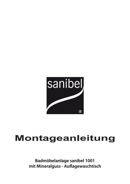 Badmobelanlage Sanibel 1001 Mit Mineralguss Auflagewaschtisch