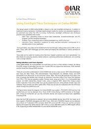 Using CoreSight Trace Techniques on Cortex - IAR Systems