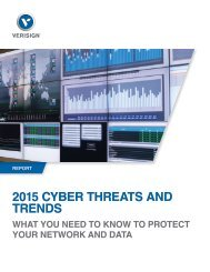 2015 CYBER THREATS AND TRENDS