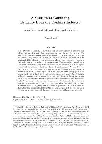 risktaking nonbanking