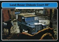 Land Rover Châssis Court 88 1972
