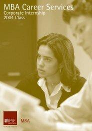 Corporate intership - IESE Business School