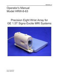 Operator's Manual Model HRW-8-63 Precision Eight Wrist ... - Invivo