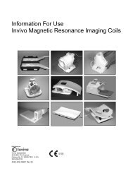 Information For Use Invivo Magnetic Resonance Imaging Coils