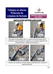 Trabajos en alturas Protocolo de Limpieza de fachada