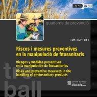 Riscos i mesures preventives en la manipulació de fitosanitaris