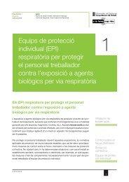 Equips de protecció individual (EPI) respiratòria per protegir el ...