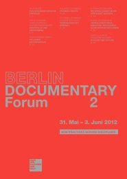 DOCUMENTARY Forum 2 - Haus der Kulturen der Welt