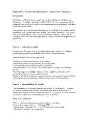 Reglamento de funcionamiento para operarios y ... - Bizkaia 21
