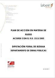 PLAN DE ACCIÓN EN MATERIA DE RUIDO DIPUTACIÓN FORAL DE BIZKAIA