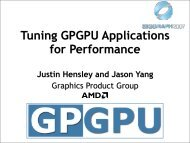 Tuning GPGPU Applications for Performance