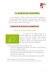 EL ETIQUETADO ECOLÓGICO - Bizkaia 21
