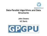 Data-Parallel Algorithms and Data Structures
