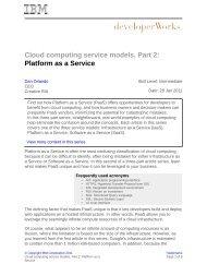 Cloud computing service models, Part 2: Platform as a Service - IBM