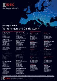 befehls- und meldegeräte - Idec Elektrotechnik GmbH