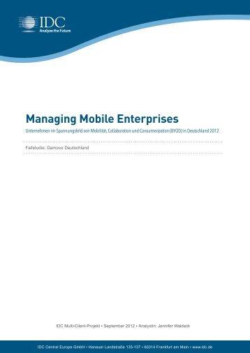 Managing Mobile Enterprises - IDC