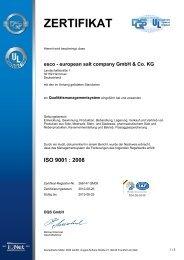 esco - european salt company GmbH & Co. KG - ICKENROTH GmbH