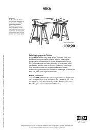 Selbstbedienung an der Tischbar An der VIKA Tischbar kann ... - Ikea