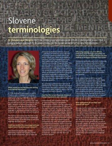 Slovene terminologies